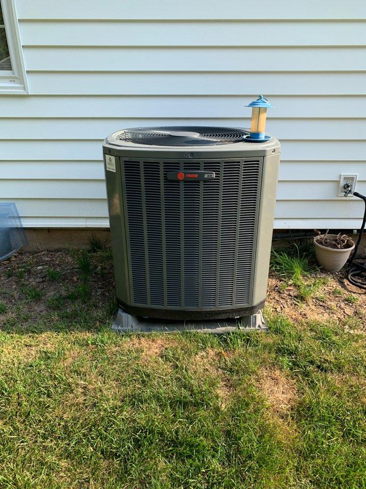 Fairfax, VA - Performed diagnostics on Trane Heat Pump system.