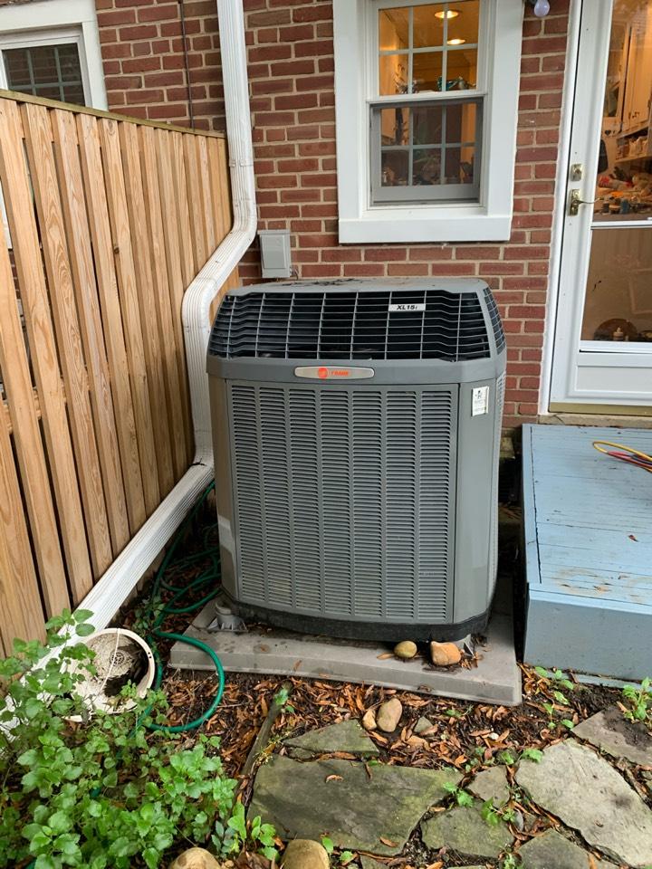 Arlington, VA - Performed preventive maintenance on Trane Heat Pump system. Fairlington