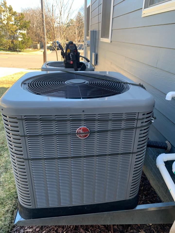 Arlington, VA - Performed diagnostics and partial repair on Rheem Heat Pump system.