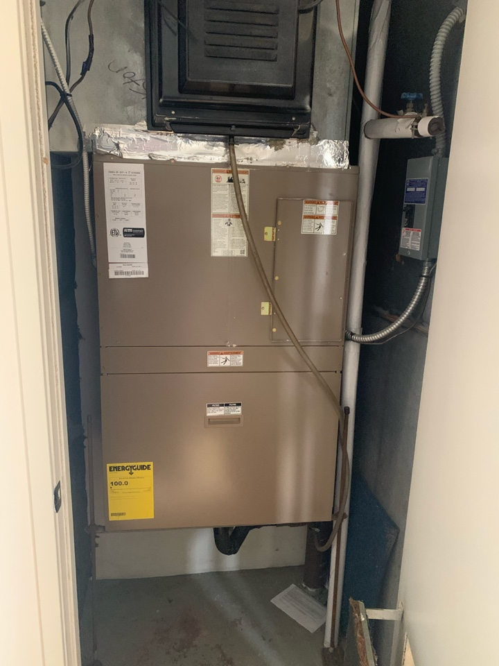 Arlington, VA - Performed repair on Allied Electric Package Heat system.