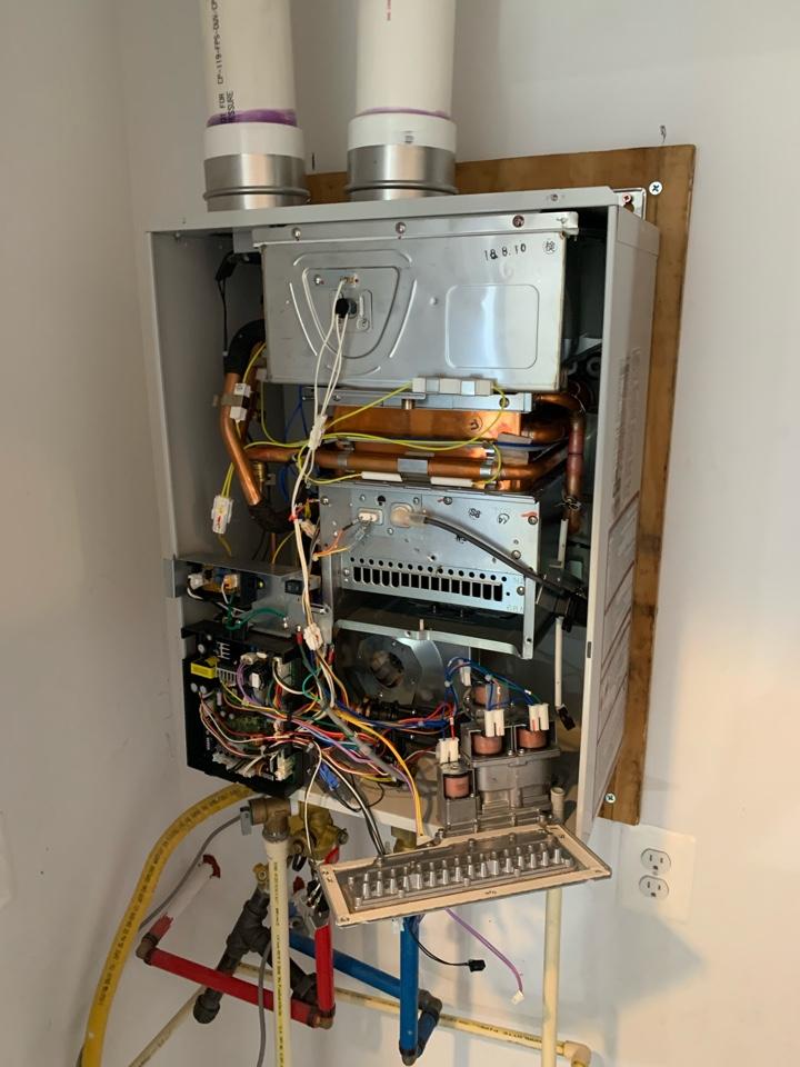 Arlington, VA - Replacing gas control valve on State tankless water heater.