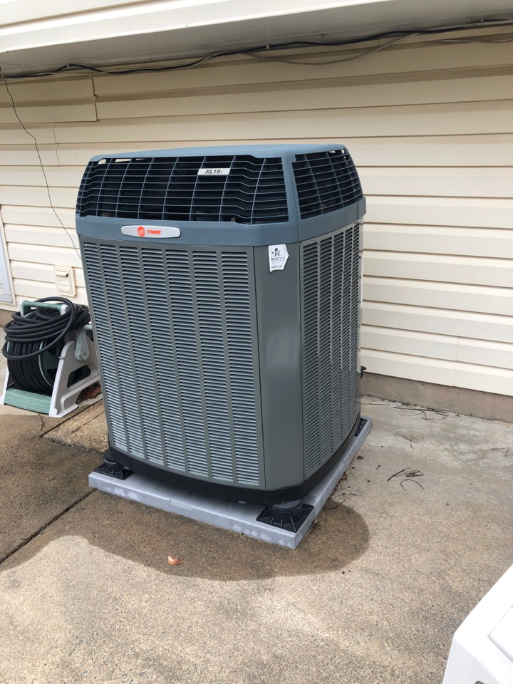 Herndon, VA - Performed preventive maintenance on  Trane Heat Pump system for cooling season.