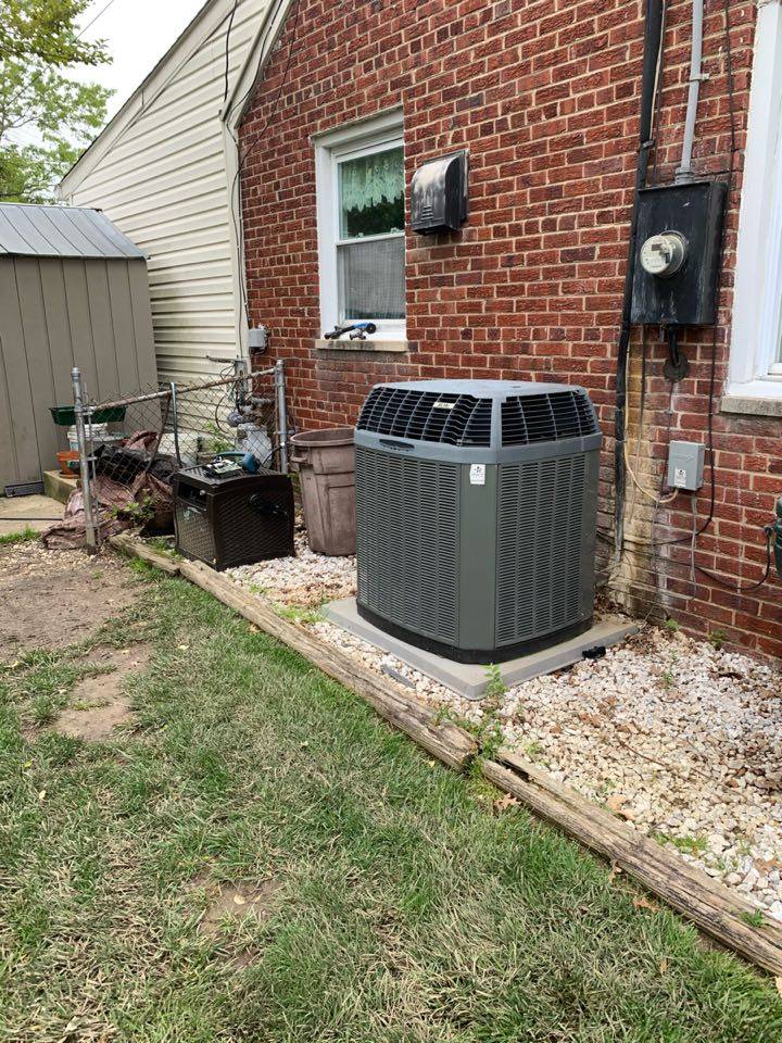 Performed Spring preventive maintenance on Trane AC system.