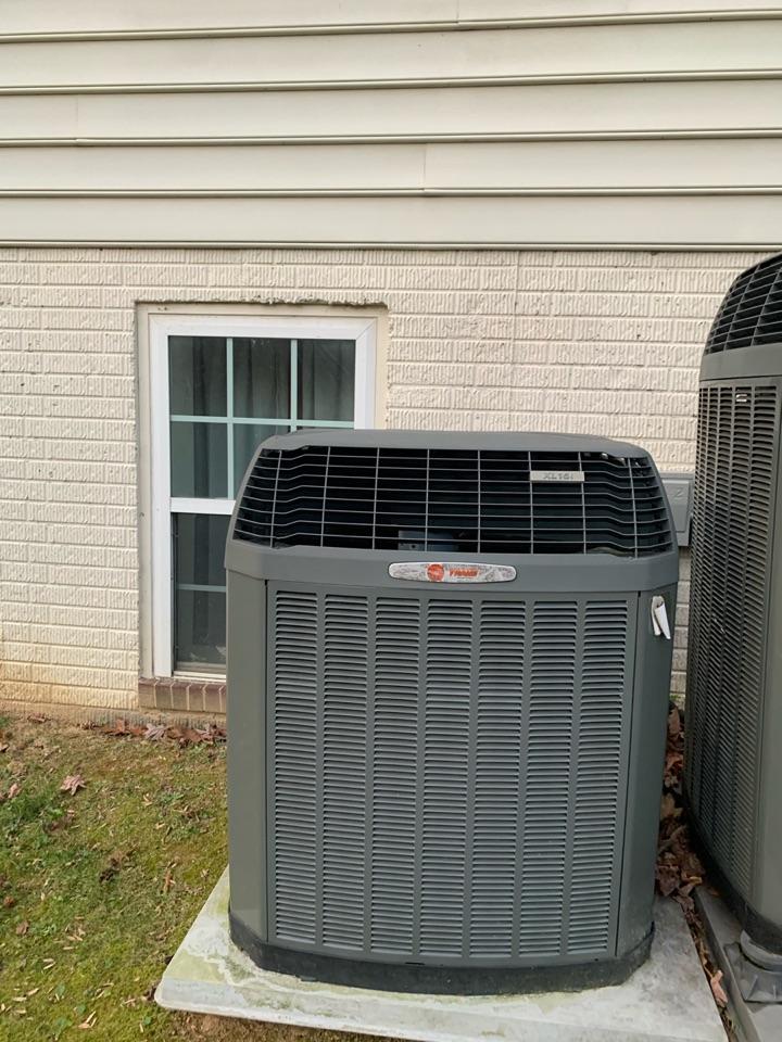 Springfield, VA - Performed preventive maintenance on Trane Heat Pump systems.