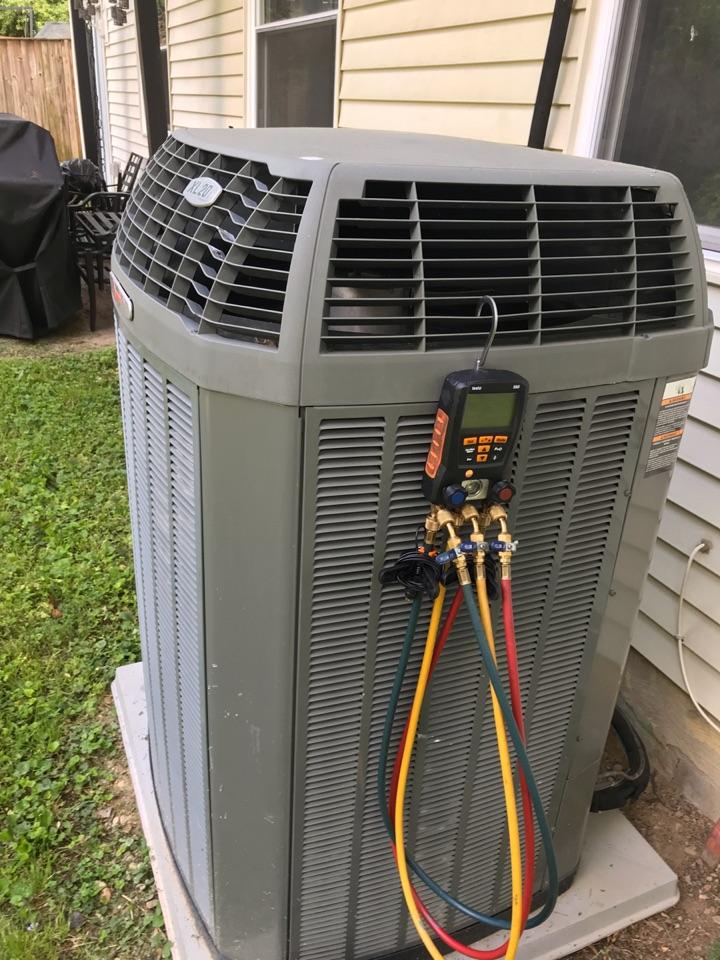Springfield, VA - Performed preventive maintenance on Trane Heat Pump system.