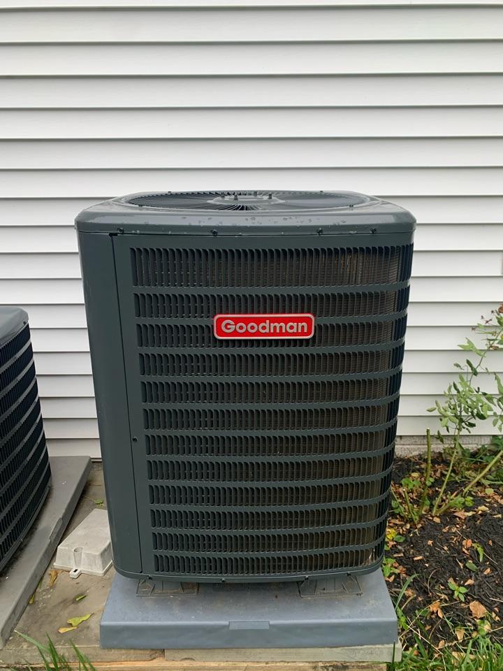 Fairfax Station, VA - Performed preventive maintenance on Goodman AC and Heat Pump systems.