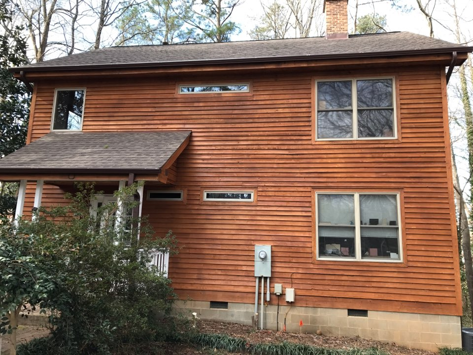 Raleigh, NC - Finished roof, repairs, new stain, new gutters and guards