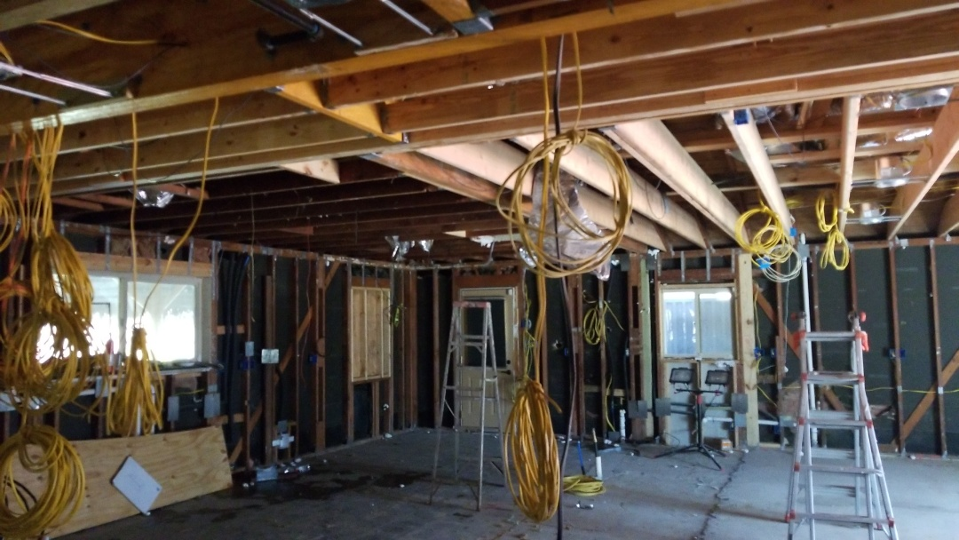 League City, TX - Removed kitchen, wiring, plumbing and a/c to stay construction of second story