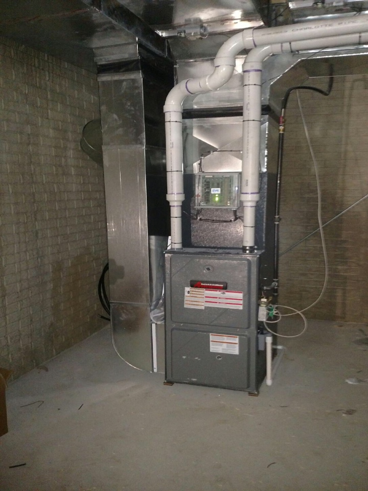 Manitou Beach, MI - Aspen Heating and Cooling Loves this Amana Furnace Installation
