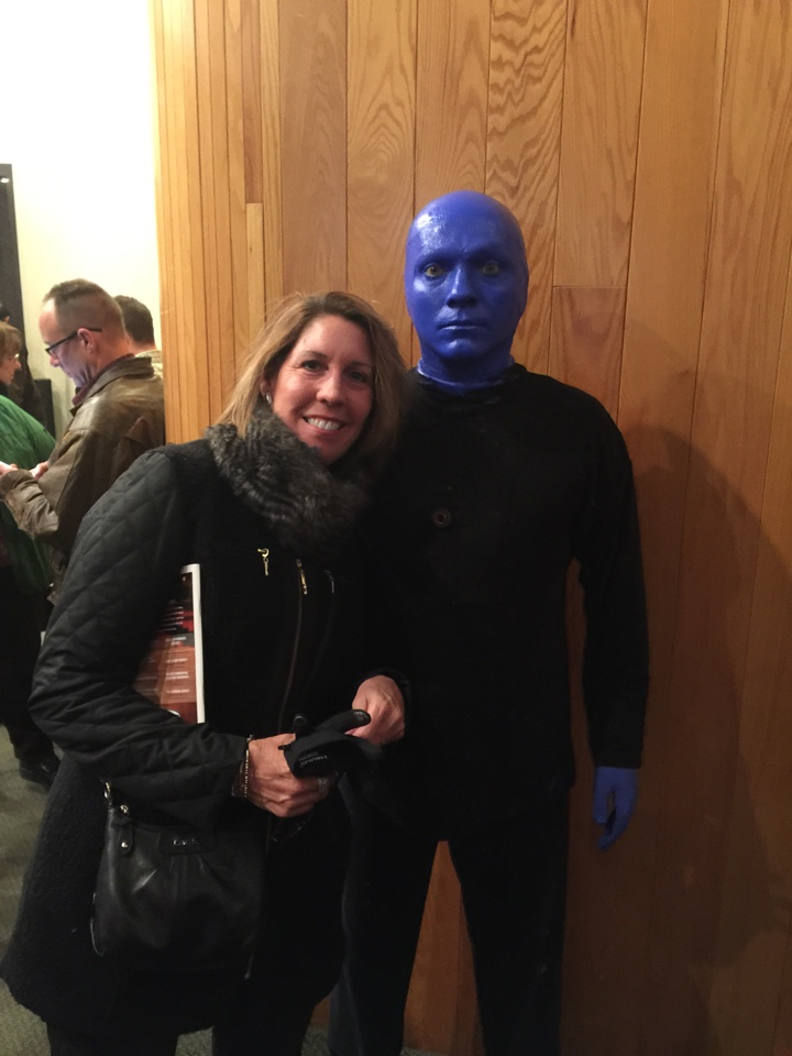 East Lansing, MI - Teri with the Blueman