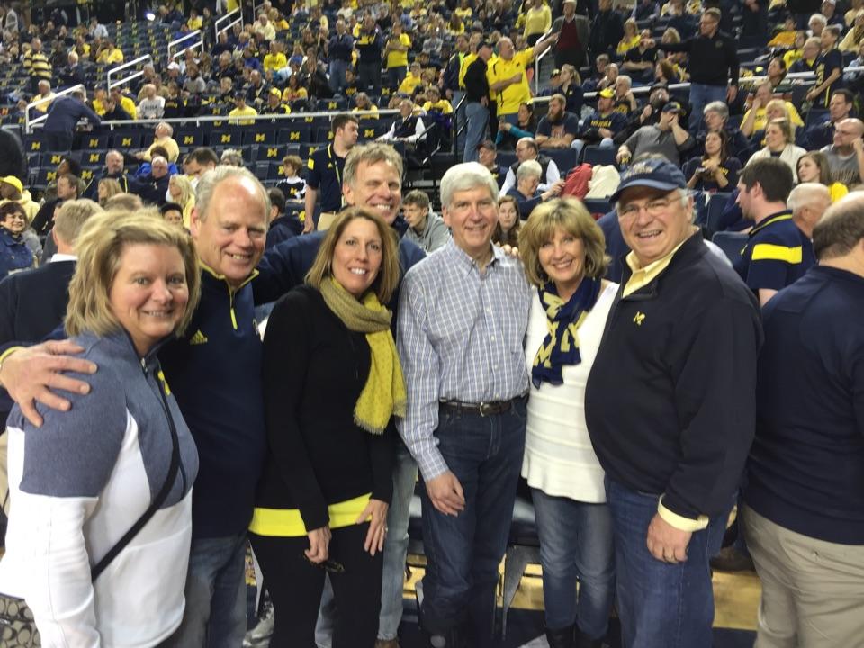 Ann Arbor, MI - Michigan / Rutgers with Governor Rick Snyder