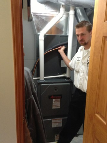 Horton, MI - Clean and check of the air conditioner