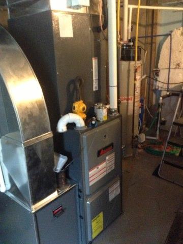 Jerome, MI - Install Amana furnace and het pump