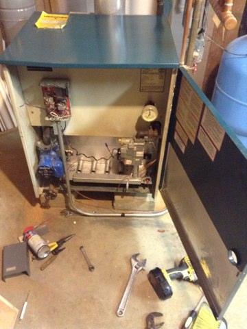 Pleasant Lake, MI - Clean and check on boiler vaillant system