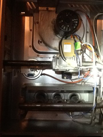 Chelsea, MI - Performed scheduled furnace clean and check, pulled and clean burners, checked gas pressure, check amp draws on all motors, checked capacitor, replaced Airfilter, checked Delta T