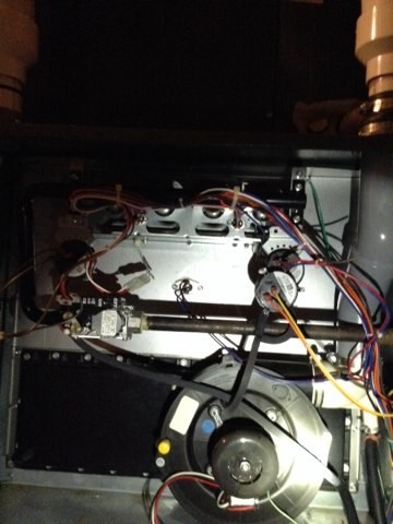 Concord, MI - Comfort club cleaning & safety inspection on this amana furnace.