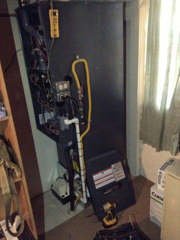 Brooklyn, MI - Setting gas pressures on and amana