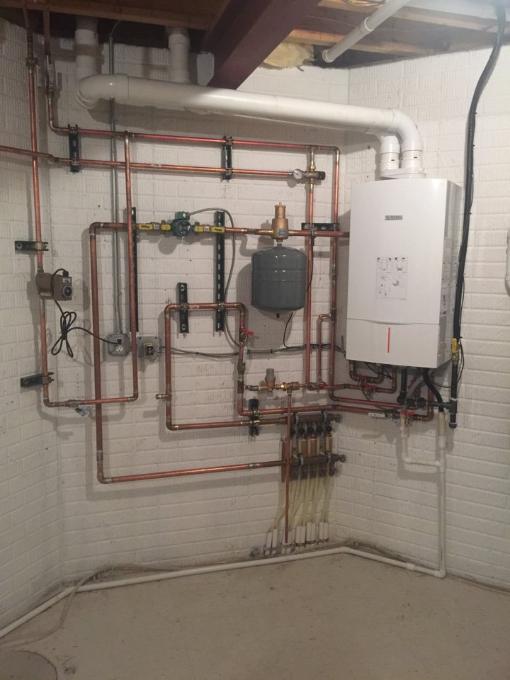 Jackson, MI - Take a look at this beauty! Another job well done by Greg Bushinski. In-floor radiant heat with with a combo tank-less water heater