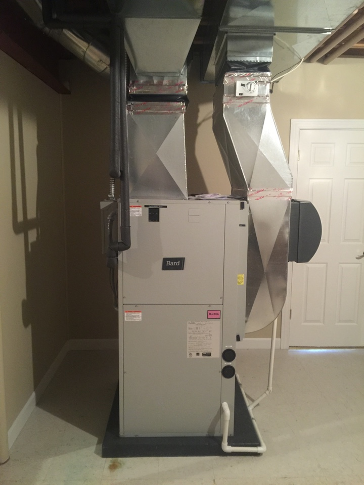 Jackson, MI - Bard geothermal heat pump installed by my geothermal specialist, Trevor Smith