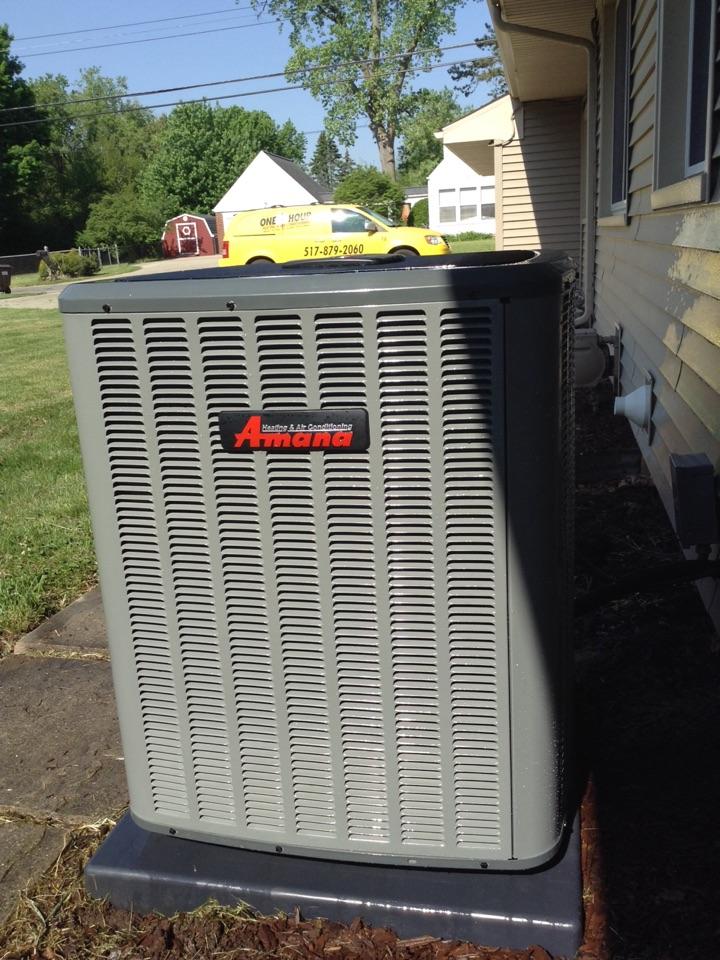 Jackson, MI - Amana air conditioner seasonal tuneup.