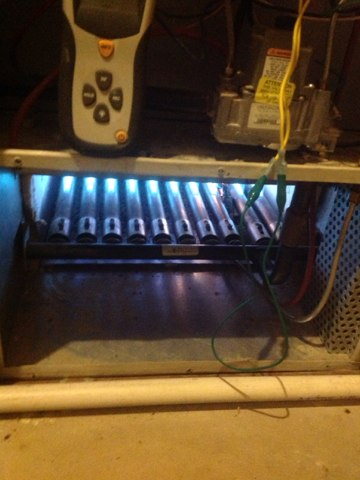 Rives Junction, MI - No heat boiler, pulled and cleaned pilot assembly and ignitor/flame sensor and boiler fired up