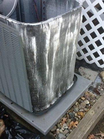 Horton, MI - Air conditioner cleaning a ac unit. Clean Amana ac unit