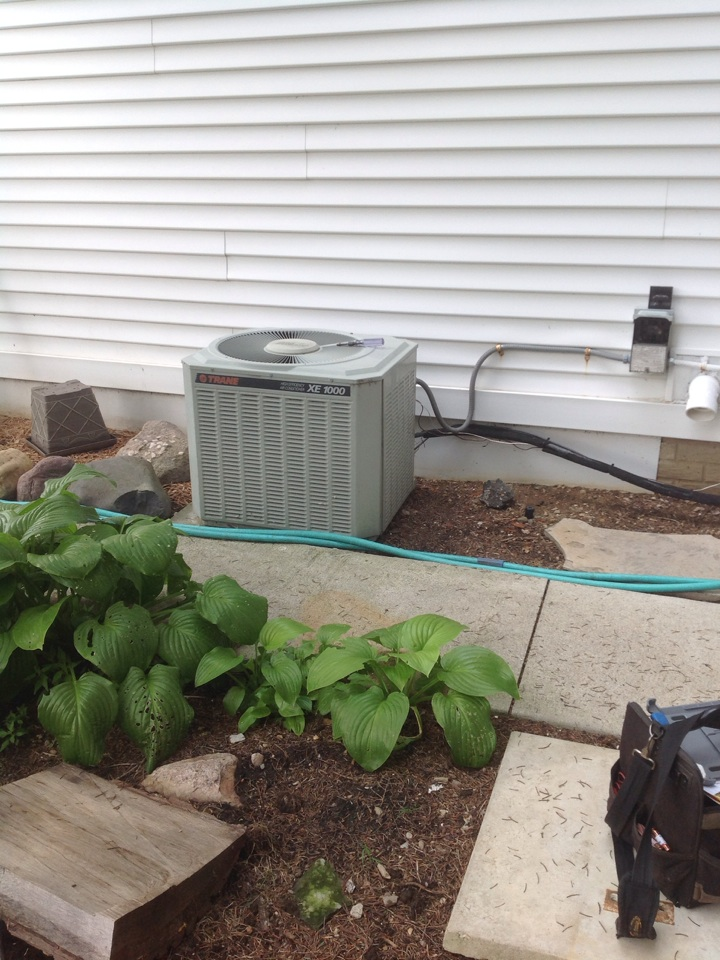 Brooklyn, MI - Performed cleaning and inspection of AC system