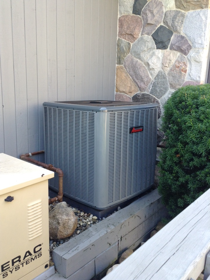 Clarklake, MI - Cleaned and checked AC unit