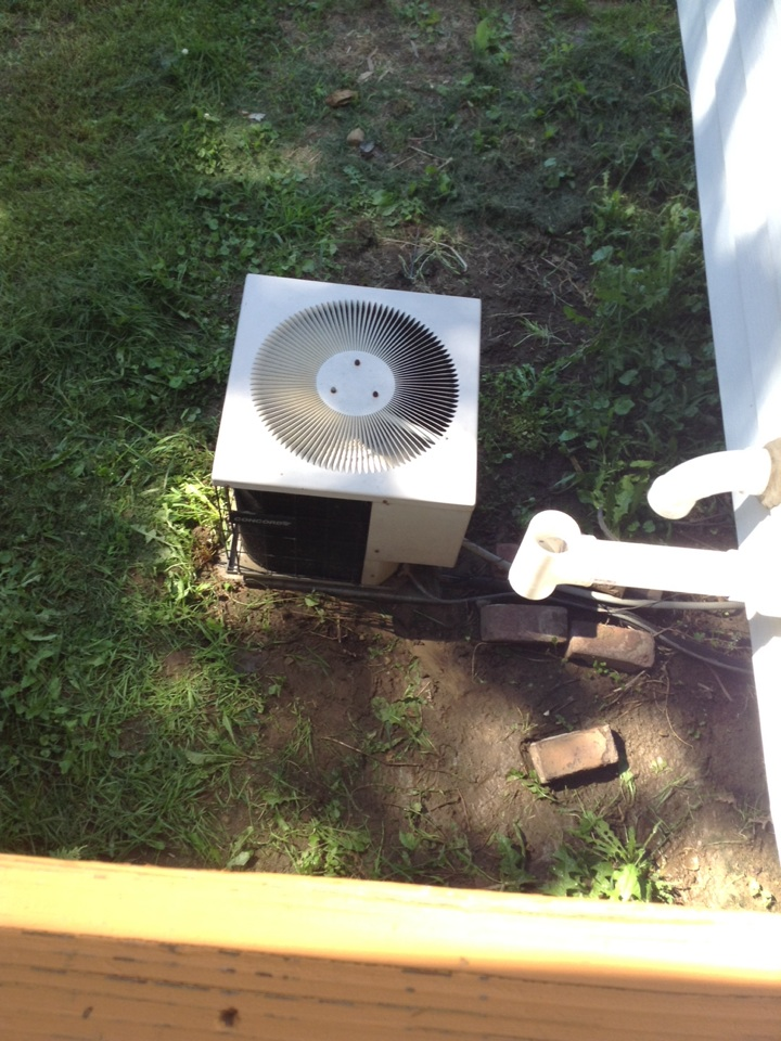 Munith, MI - Cleaned AC unit