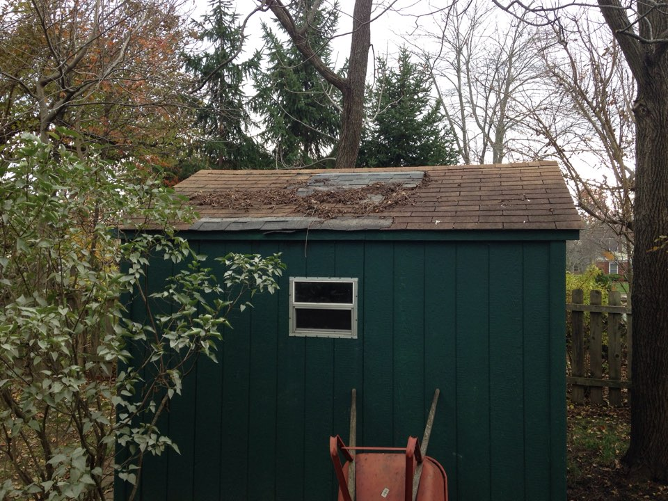 Westerville, OH - Before pic of new garden shed