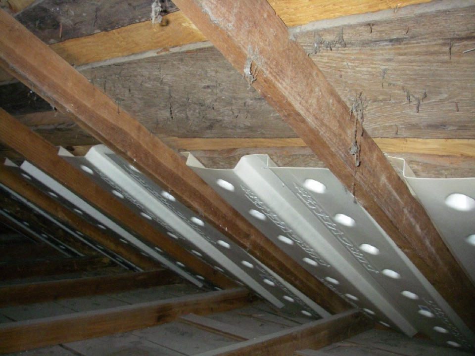 Westerville, OH - Insulation baffles are important for proper attic ventilation