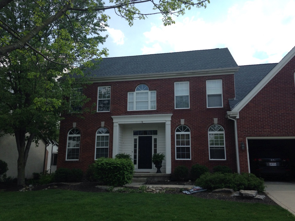 Dublin, OH - Another new Muth Roof in Pewter gray -Timberline HD