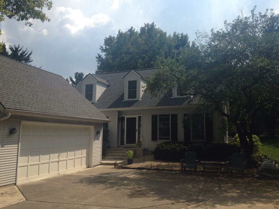Columbus, OH - Another new Muth Roof in Worthington OH. GAF Timberline HD - Pewter Gray