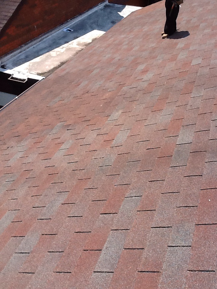 Columbus, OH - Hump in Roof deck after repair picture Muth&Company Roofing