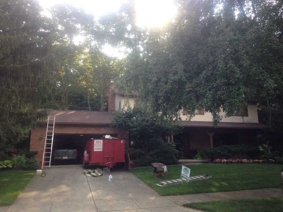 Westerville, OH - Just finishing another Muth Roof in Westerville OH. Timberline HD - Hickory