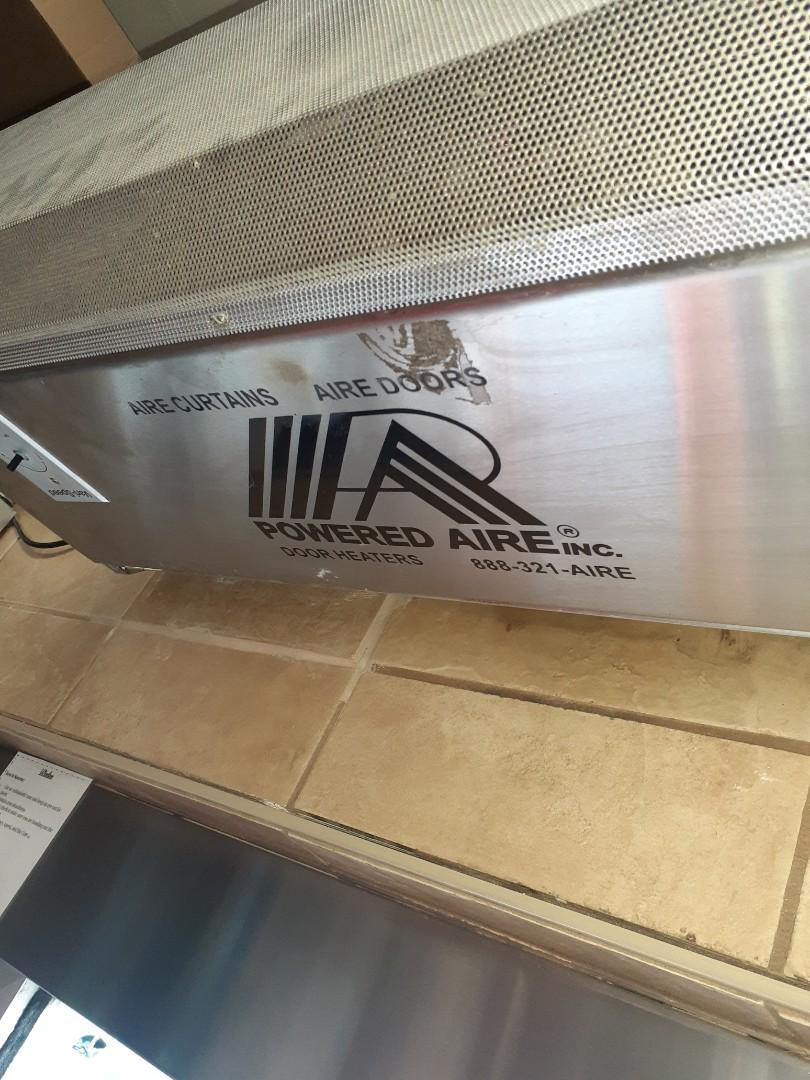 Ellijay, GA - Heated air curtain