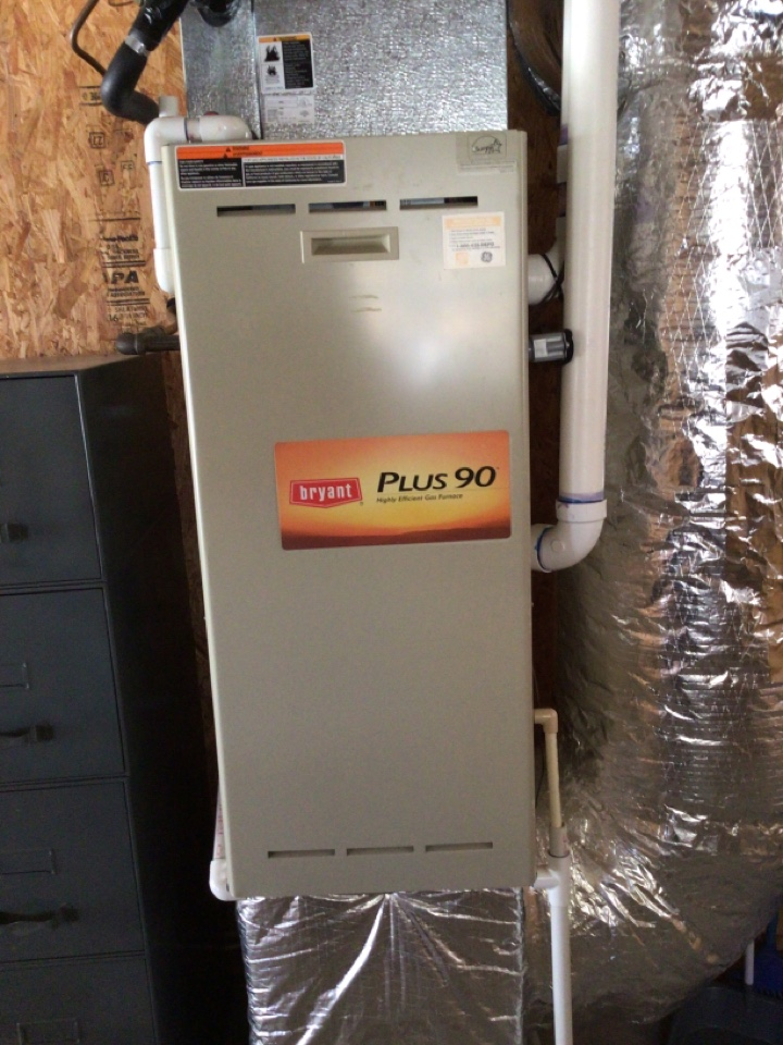Blairsville, GA - Two Bryant gas furnace maintenance and filter change