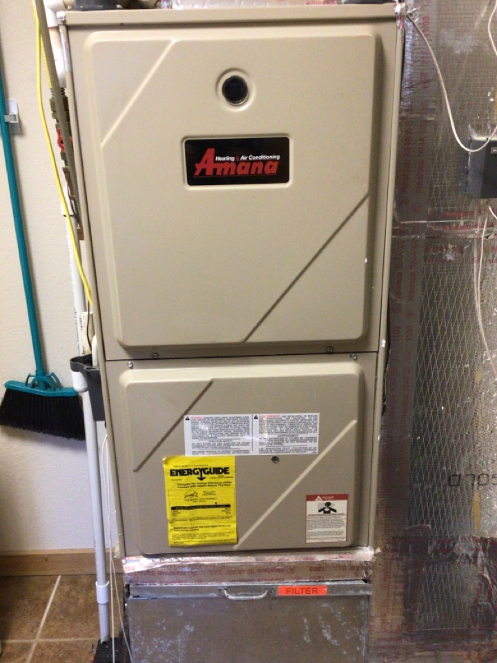 Blairsville, GA - Amana gas furnace maintenance and filter change
