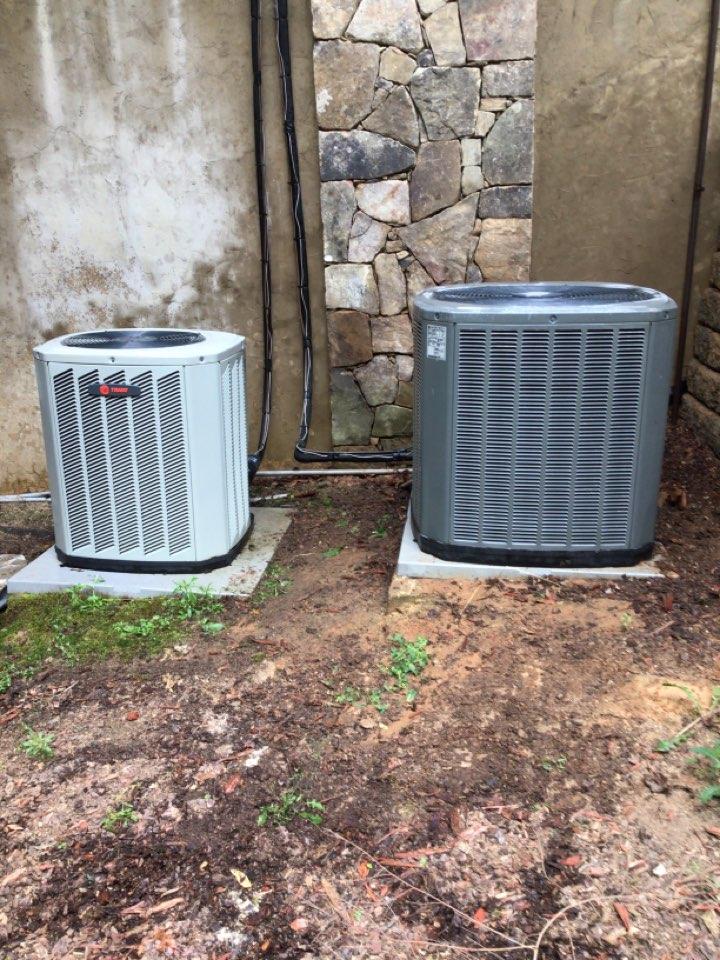 Morganton, GA - Trane heat pump maintenance and filter change