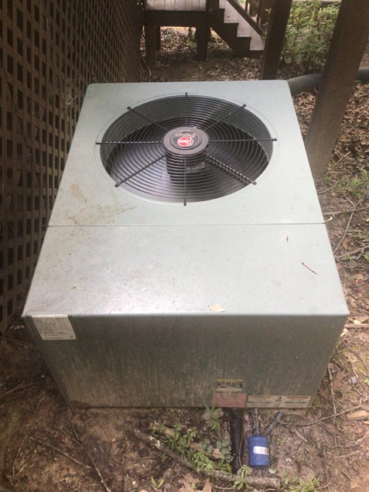 Blue Ridge, GA - Rheem heat pump maintenance and filter change