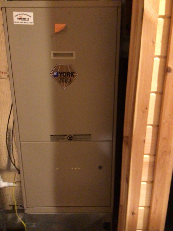 Cherry Log, GA - York duel fuel system maintenance and filter change