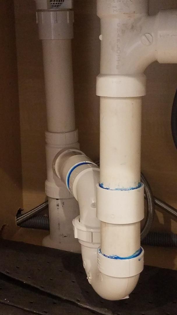 Fredericksburg, VA - Replaced trap on kitchen sink drain