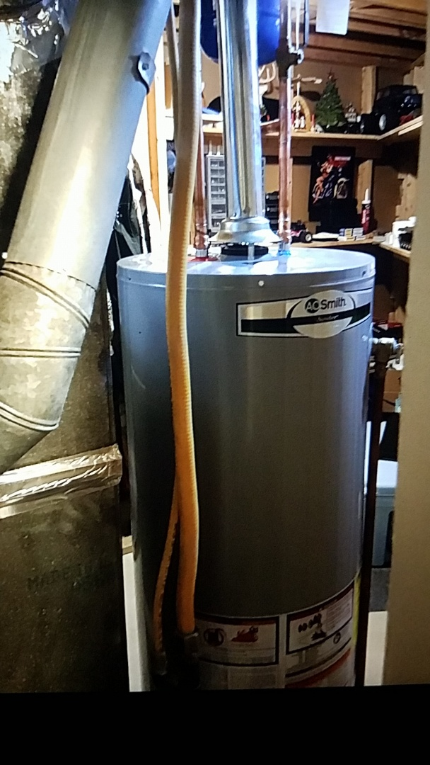 Replaced 50 Gallon gas water heater