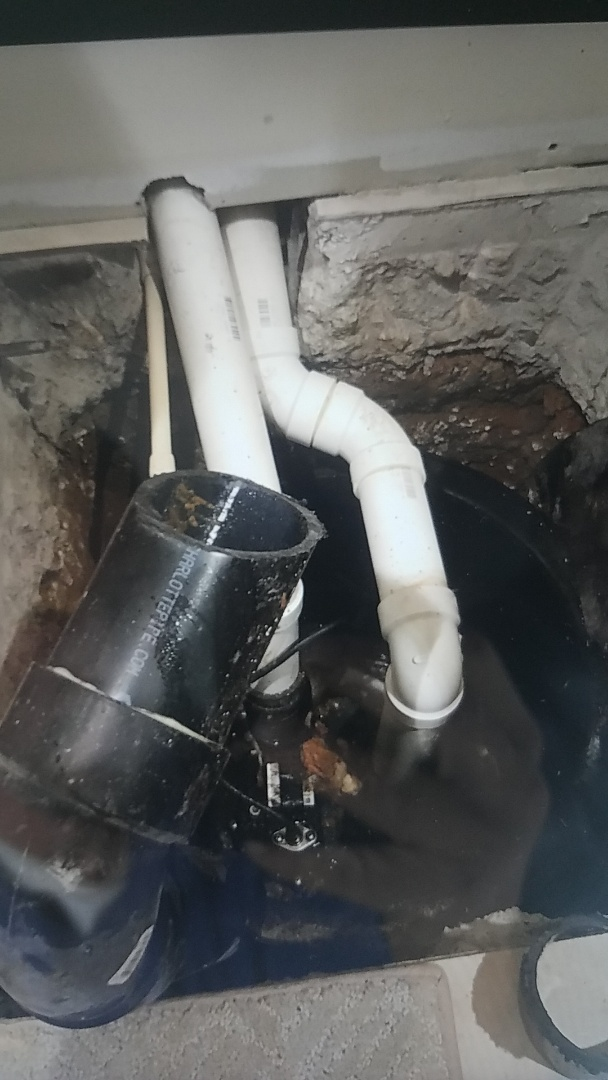 Fredericksburg, VA - Fixed drain line going into sewer pump pit