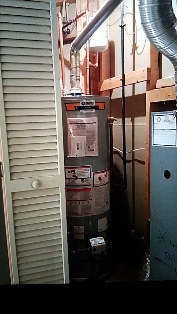 Stafford Courthouse, VA - Installed 50 Gallon Gas Water Heater with shut off valve Expansion tank and pan