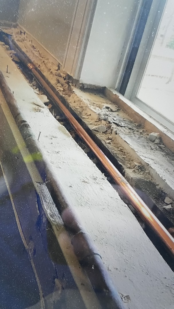 Stafford, VA - Repaired 1/2 copper water line in window ledge in wall
