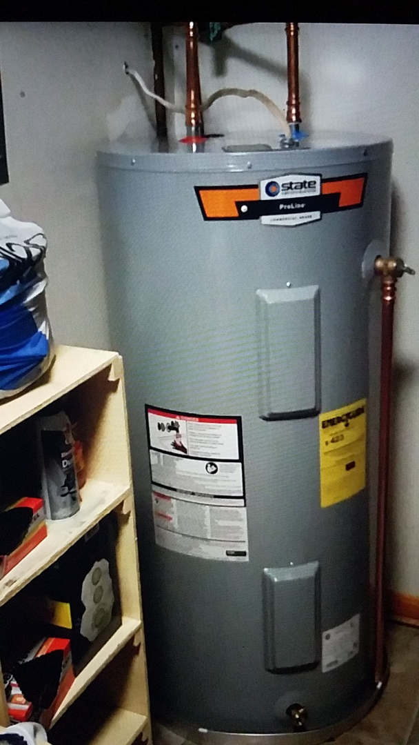 Stafford, VA - Installed 50 Gallon Electric water heater new shutoff valve and drain pan Stafford Va