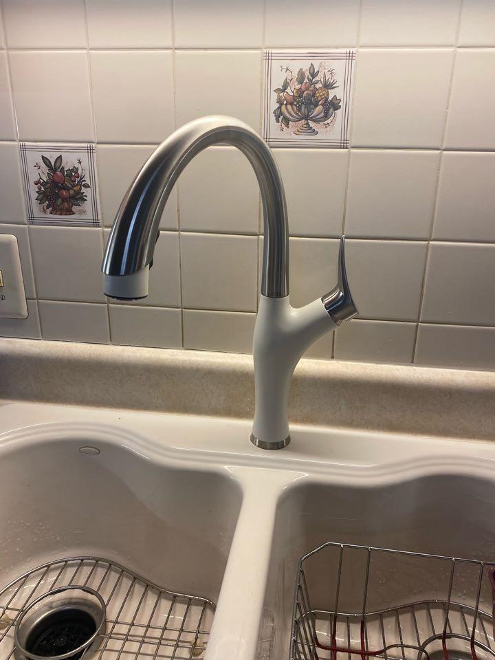 Stafford, VA - Installed new kitchen faucet in aquia harbor.