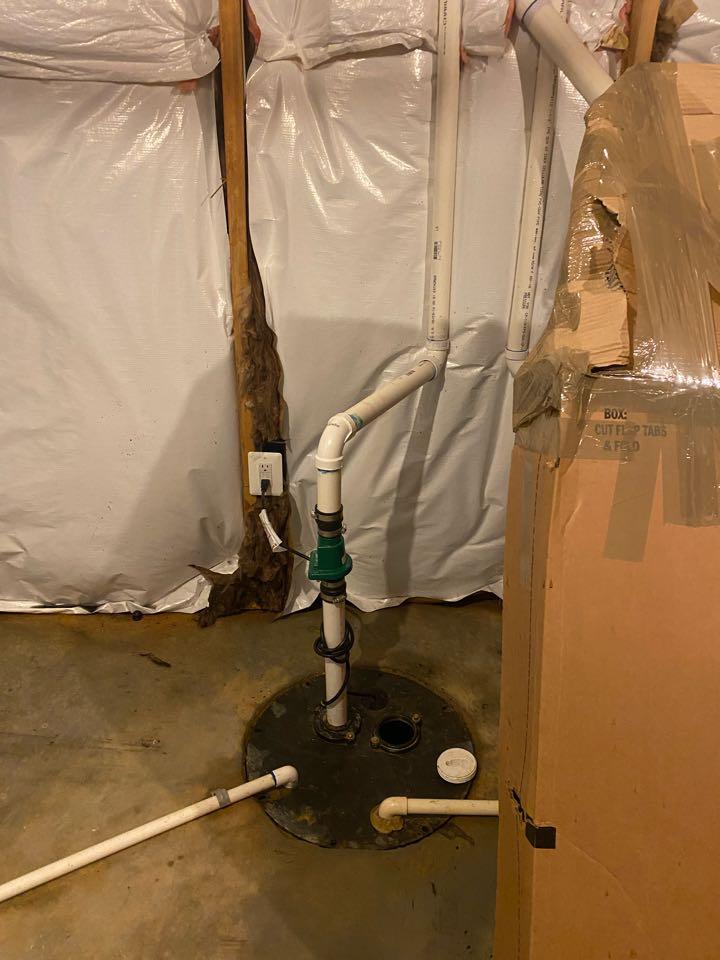 Stafford, VA - Installed Sump pump in stafford