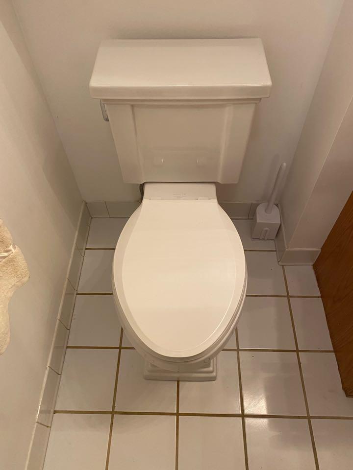 Toilet install in aquia harbor, stafford.